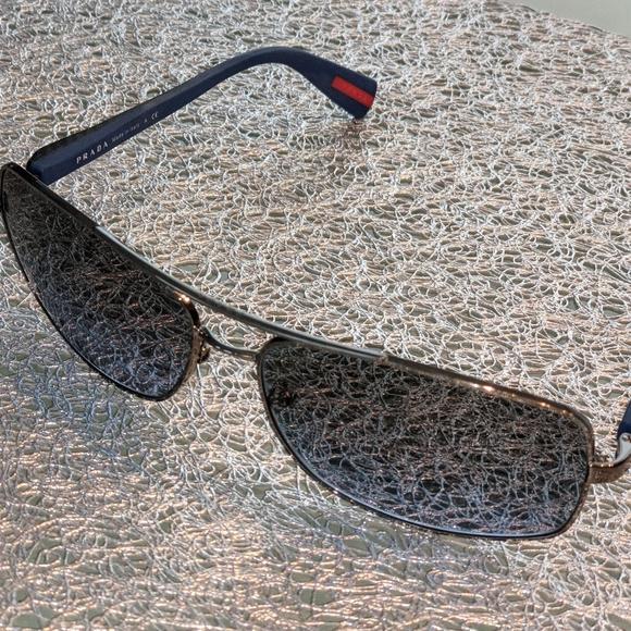 Authentic Prada Men Sunglasses Charcoal Frame